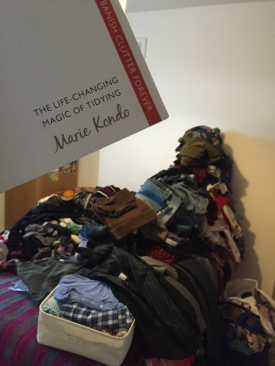 All the clothes: Ready to begin the process.